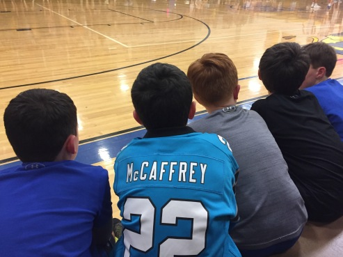 Jack and his buddies were totally into the game!